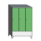 Lockers with a short door & sloping top