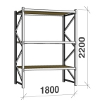 Metallihylly orsilla 2200Hx1800L