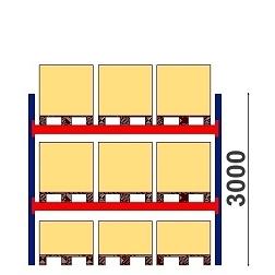 Kuormalavahylly  H=3000 BASIC