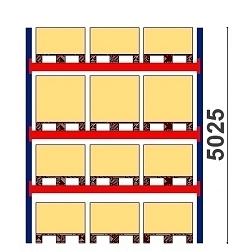 Kuormalavahylly H=5025 BASIC