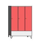 Lockers with a short door