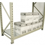 Varastohylly jatko-osa 2500x1400x600 600kg/hyllytaso,3 tasoa peltitasoilla