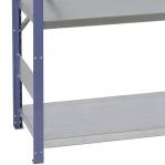 Pientavarahylly jatko-osa 2500x1000x500 200kg/hyllytaso,6 tasoa, sininen/Zn