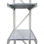 Metallihylly perusosa 2200x2300x500 350kg/hyllytaso,3 tasoa lastulevytasoilla