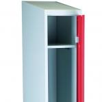 Pukukaappi 1:lla ovella 1920x350x550 punainen/harmaa