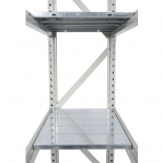 Metallihylly perusosa 2500x1800x500 480kg/hyllytaso,3 tasoa peltita