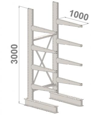 Ulokehylly perusosa 3000x1000x1000,5 tasoa