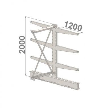 Ulokehylly jatko-osa 2000x1500x2x1200,4 tasoa