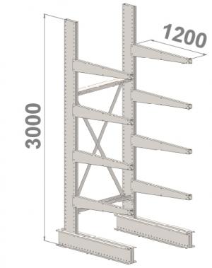 Ulokehylly perusosa 3000x1500x1200,5 tasoa