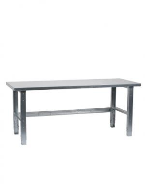 Raskas työpöytä 2000x800 terästaso, sinkityt jalat