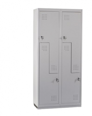 Z-locker, 4 doors 1820x800x450, RAL7035 Knocked Down