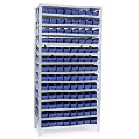 Laatikkohylly 2100x1000x400, 104 laatikkoa 400x120x95