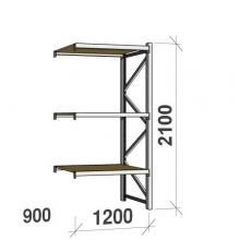 Extension bay 2100x1200x900 600kg/level,3 levels with chipboard