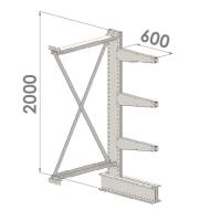 Ulokehylly jatko-osa 2000x1000x600,4 tasoa