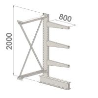 Ulokehylly jatko-osa 2000x1000x800,4 tasoa