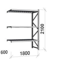 Maxi extension bay 2100x1800x600 480kg/level,3 levels with steel decks