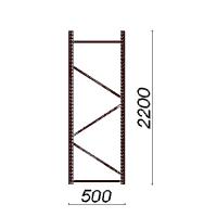 Kevytorsihyllyn pylväselementti 2200x500 mm
