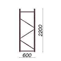 Kevytorsihyllyn pylväselementti 2200x600 mm
