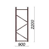 Kevytorsihyllyn pylväselementti 2200x900 mm