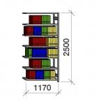 Arkistohylly jatko-osa 2500x1170x300 200kg/hyllytaso,7 tasoa