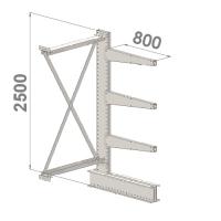 Ulokehylly jatko-osa 2500x1000x800,4 tasoa