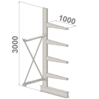 Ulokehylly jatko-osa 3000x1000x1000,5 tasoa
