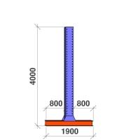 T-pylväs 2-puolinen 4000x2x800