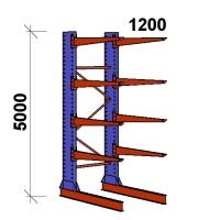 Ulokehylly perusosa 5000x1500x1200,5 tasoa