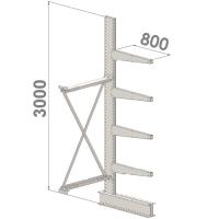 Ulokehylly jatko-osa 3000x1500x800,5 tasoa
