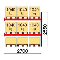 Kuormalavahylly jatko-osa 2550x2700 1041kg/lava,9 EUR lavapaikkaa