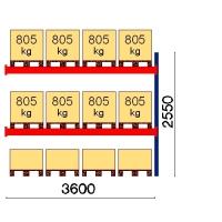 Kuormalavahylly kuormalavahylly jatko-osa 2550x3600 805kg/lava,12 EUR lavapaikka