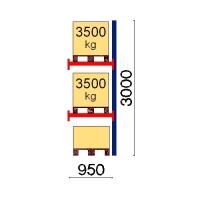 Kuormalavahylly jatko-osa 3000x950 3500kg/lava,3 EUR lavapaikkaa