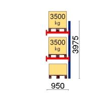 Kuormalavahylly jatko-osa 3975x950 3500kg/lava,3 EUR lavapaikkaa