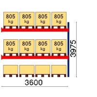 Kuormalavahylly jatko-osa 3975x3600 805kg/lava,12 EUR lavapaikkaa