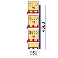 Kuormalavahylly jatko-osa 4500x950 3500kg/lava,4 EUR lavapaikkaa