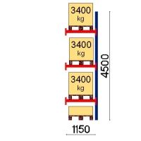 Kuormalavahylly jatko-osa 4500x1150 3400kg/lava,4 FIN lavapaikkaa