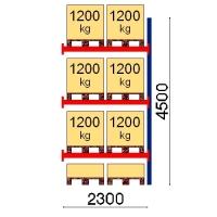 Kuormalavahylly jatko-osa 4500x2300 1200kg/lava,8 FIN lavapaikkaa