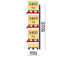 Kuormalavahylly jatko-osa 5025x1150 3400kg/lava,4 FIN lavapaikkaa
