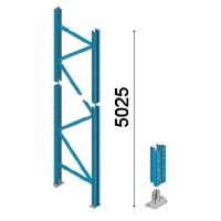 Kuormalavahyllyn pylväselementti 5025x1050 mm