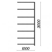 Varastohylly jatko-osa 3000x1000x400 150kg/hyllytaso,7 tasoa käytetty