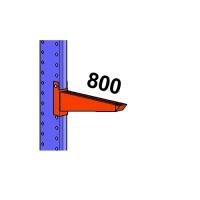 Uloke 800mm/1200kg maalattu