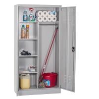 Siivouskaappi 2:lla ovella 1820x900x500 RAL 7035 kasattava