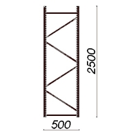 Kevytorsihyllyn pylväselementti 2500x500 mm