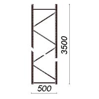 Kevytorsihyllyn pylväselementti 3500x500 mm