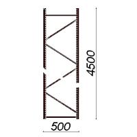 Kevytorsihyllyn pylväselementti 4500x500 mm