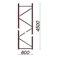 Kevytorsihyllyn pylväselementti 4500x600 mm