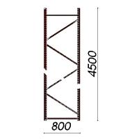Kevytorsihyllyn pylväselementti 4500x800 mm