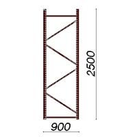 Kevytorsihyllyn pylväselementti 2500x900 mm