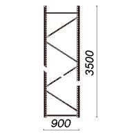 Kevytorsihyllyn pylväselementti 3500x900 mm