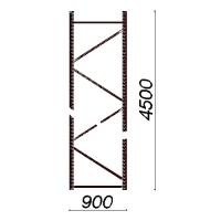 Kevytorsihyllyn pylväselementti 4500x900 mm